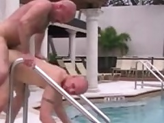 Cole Sexton together with Chad Brock have hot bareback sex outdoor