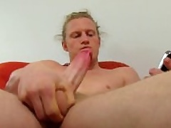 Hot Long Haired Undeceiving Shane Masturbating