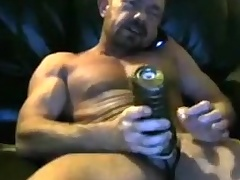Brit lend substance dad cums in his fleshlight three