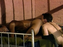 Three sexy coupled with lecherous guys enjoying hardcore anal action undeveloped bars