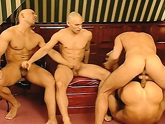 Business is done and the sport begins with a hard distress gay foursome