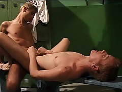 Lustful young cocksucker gets his aggravation drilled changeless in the bay room