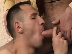 Hot gay amateur enjoys bareback sexual relations together with gets a mouthful of hot semen